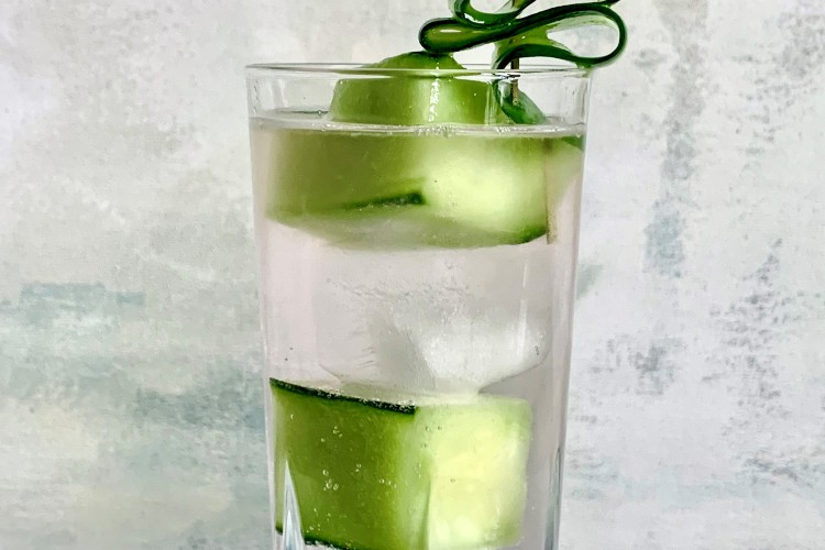 Try A Cucumber SPA-rkling Water with Pink Cranberry